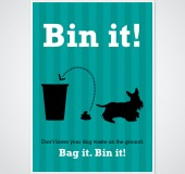 Bin It Campaign Poster