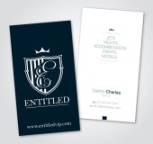 Entitled Business Cards