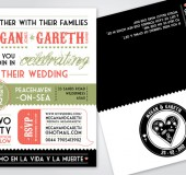 Megan + Gareth Wedding Invite
