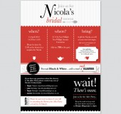 Nicola Bachelorette Party Stationery